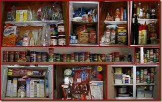 Out of Date Groceries overload traditional kitchen cupboards, but your kitchen doesn't have to be like this.