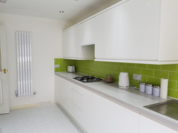 Gloss white modern kitchen
