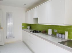 Gloss white modern kitchen