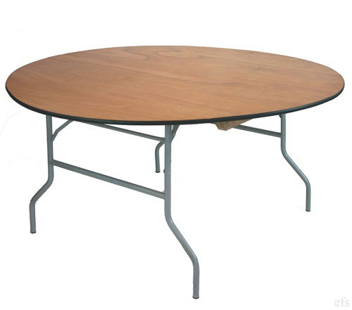Round Wood Top Tables