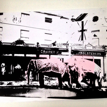 Elephants in Chelmsford - Screen print