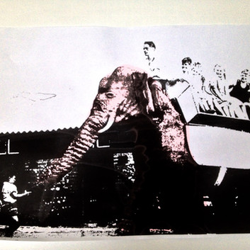 Electrophant in Arlesford - Screen print .