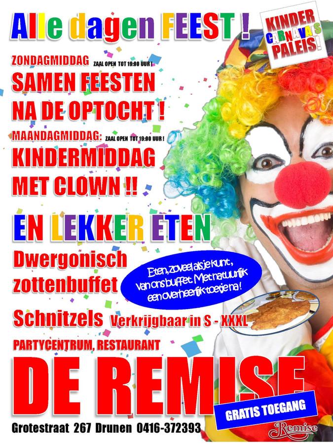 Ook de komende carnaval sta ik alweer voor het 22e jaar bij De Remise. Met alleen de beste feestplat