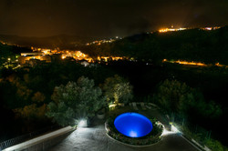 Panoramic view of the village by night