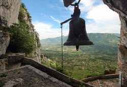 Bell of Saint Michele cave near Caposele