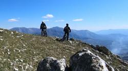 Mountain biking on Caposele mountains