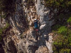 Climbing in Caposele