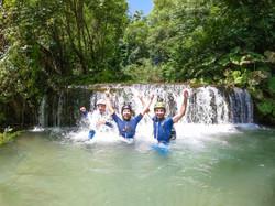 River trekking in Caposele