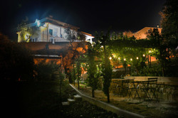 Barbecue area by night