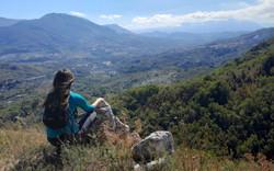 Hiking on Caposele mountains