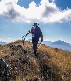 Hiking on Caposele mountain
