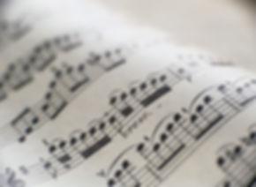 Detail der Noten