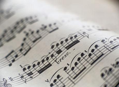 Detail of Sheet Music