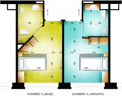 Plan chambres types concours