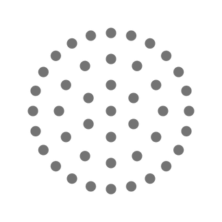 Dots in the shape of a circle