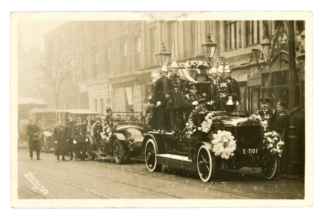 Brierley Hill Fire Brigade Funeral parade