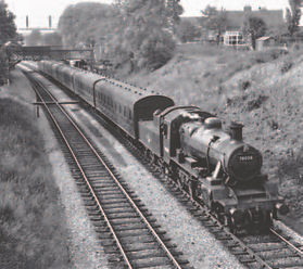 Standard class 2, 78008 leaves Daisy Bank and Bradley station with a local from Wolverhamp