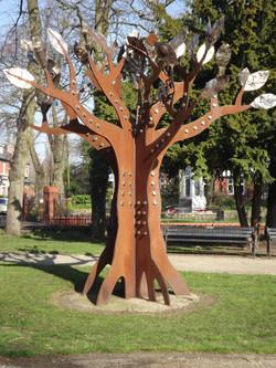 Darlston tree art installation
