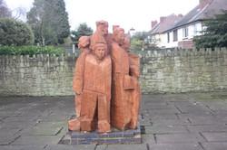 sculpture on pavement