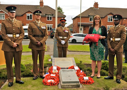 13 Honoured by family and Regiment