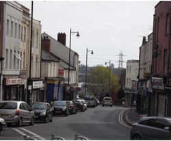 Wednesbury High St, looking towards Hill