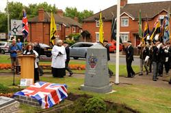 3 Parade arrives at Memorial