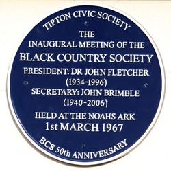 Blue Plaque on Noahs Ark pub, Tipton