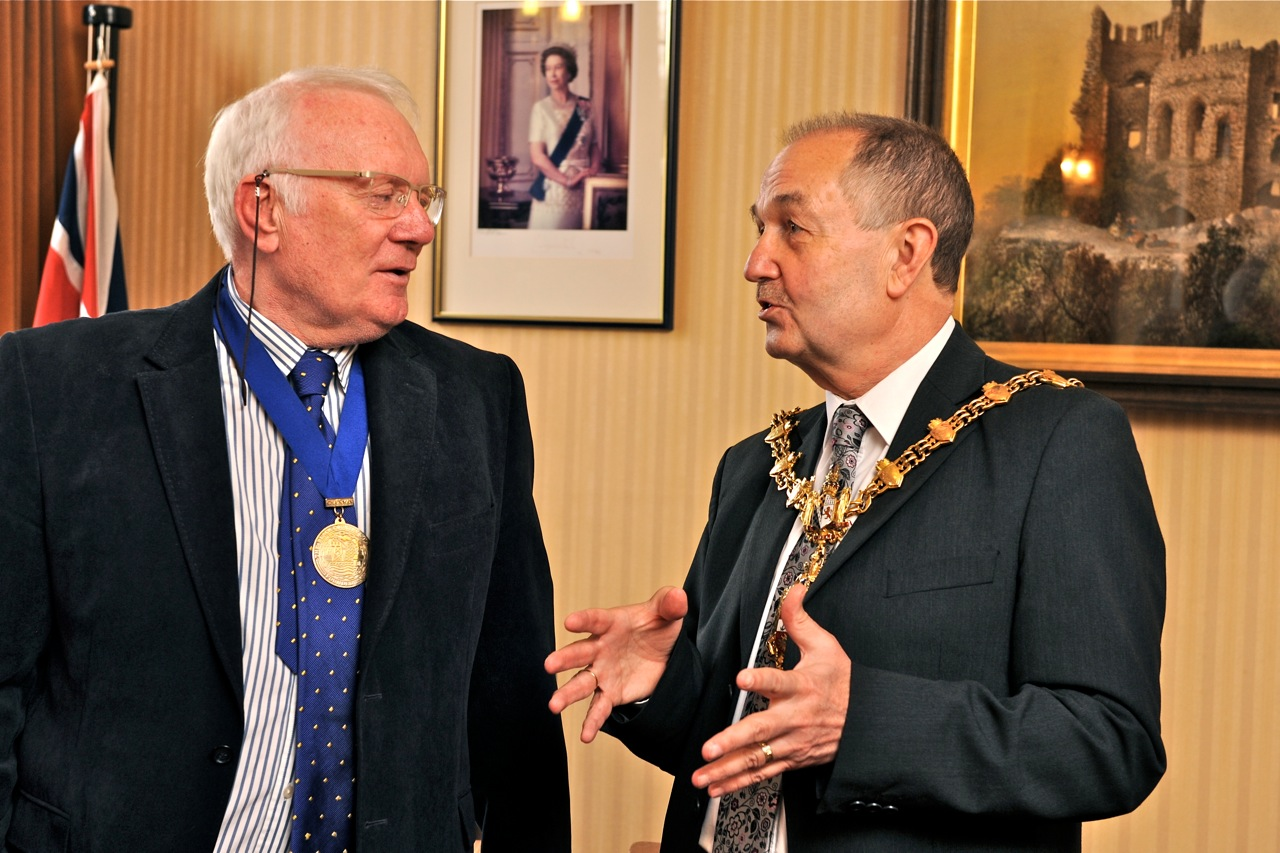 James Morgan with Lord Mayor, Dudley