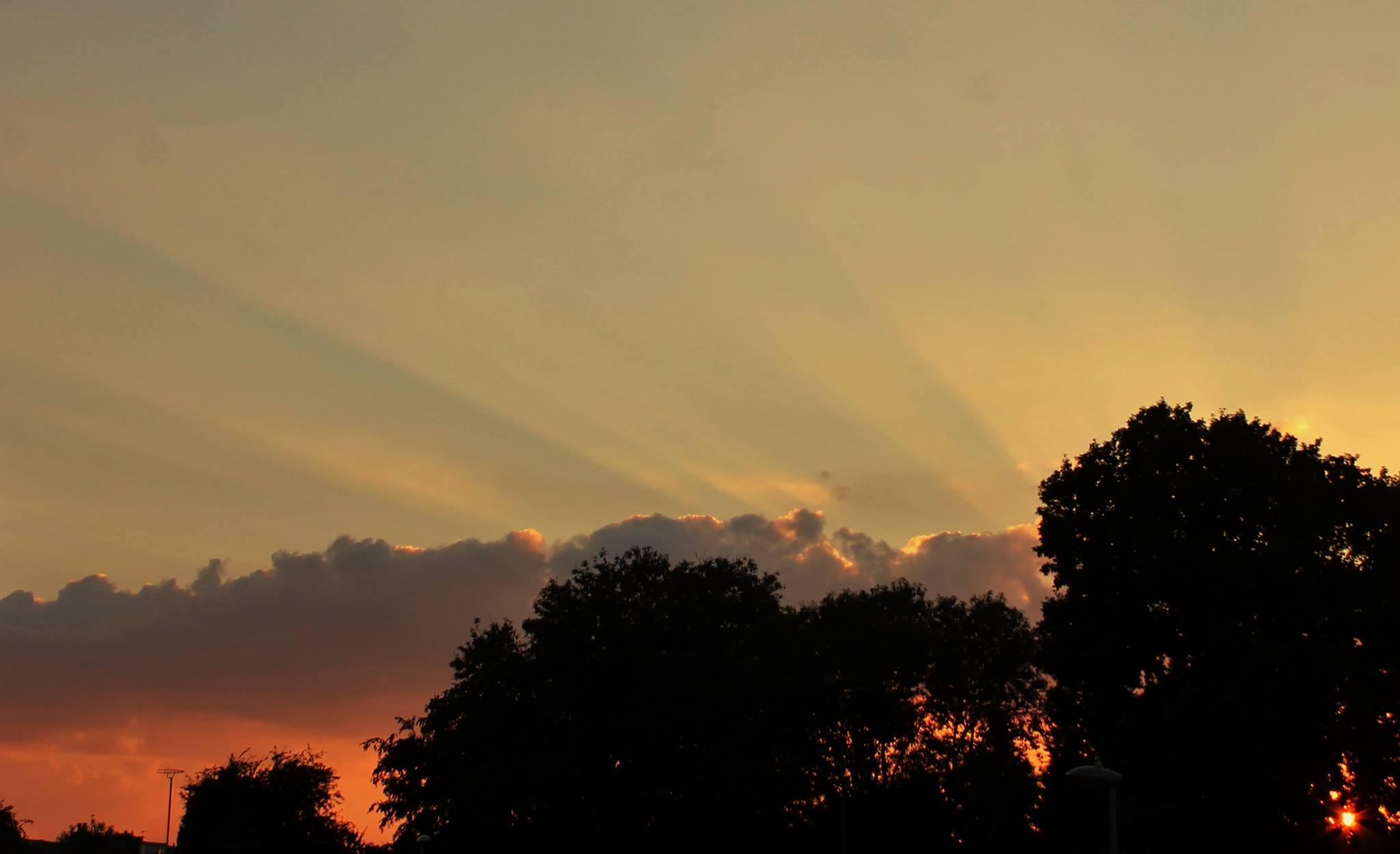 Sunset over Sedgley