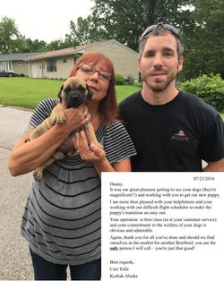 Puppy buyers from Alaska