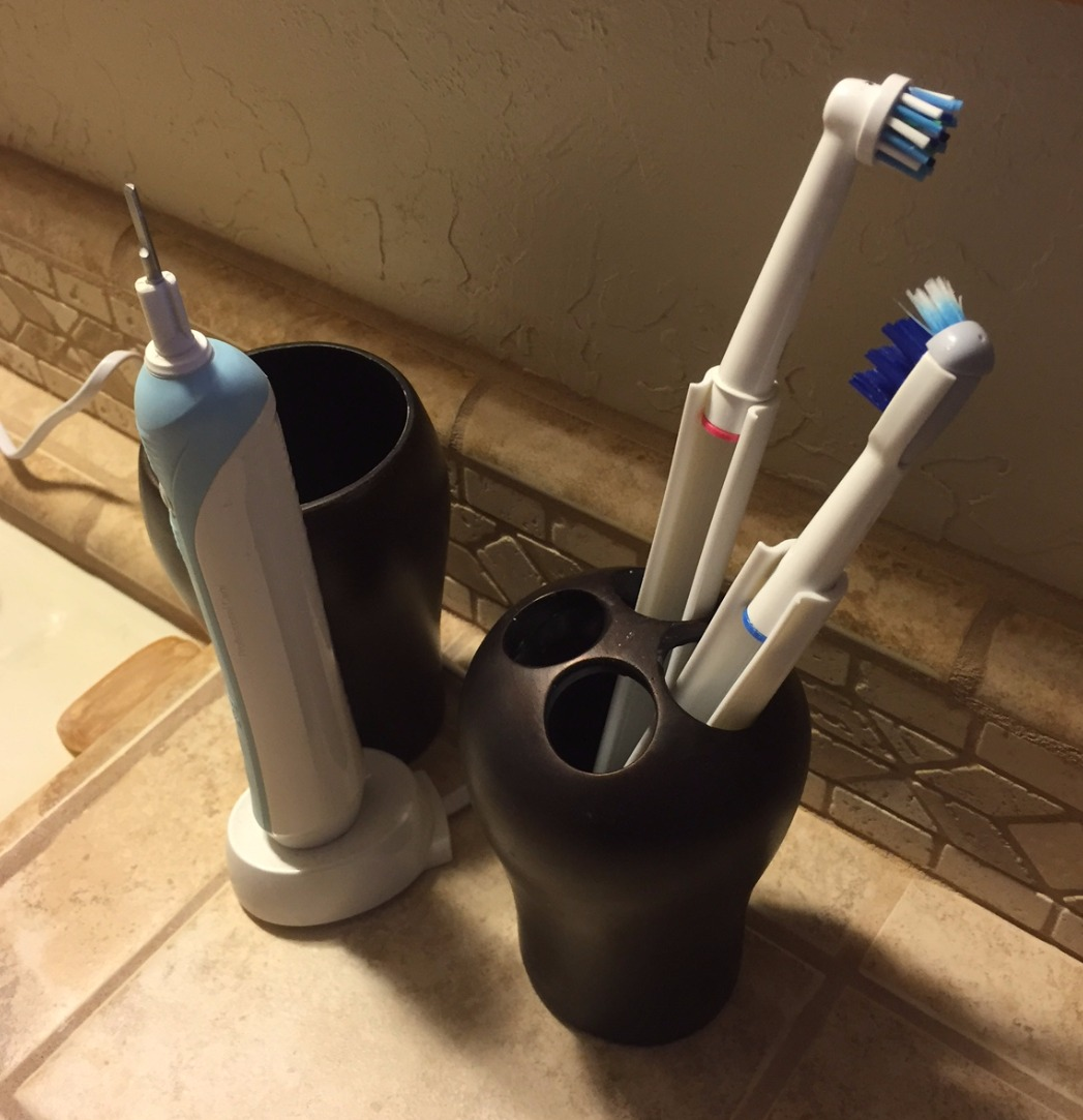Cable Clamp toothbrush holder