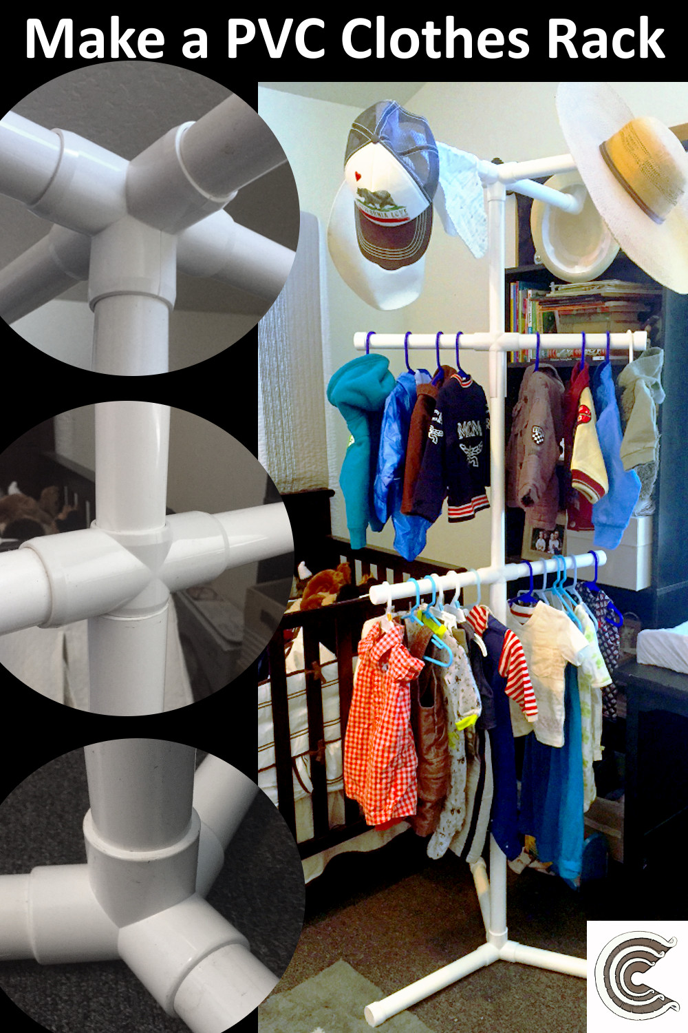 Make a PVC Clothes Rack