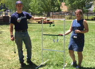 PVC Ladder Ball Game (Using your old golf balls)