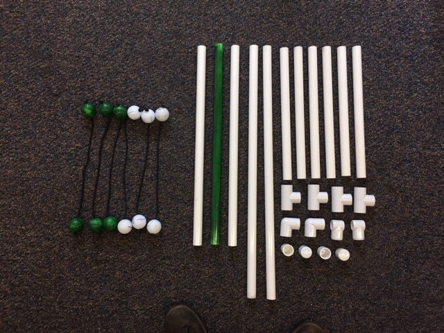 DIY Ladder ball Game Parts