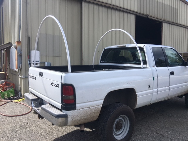 Install Arches for PVC Truck Tent