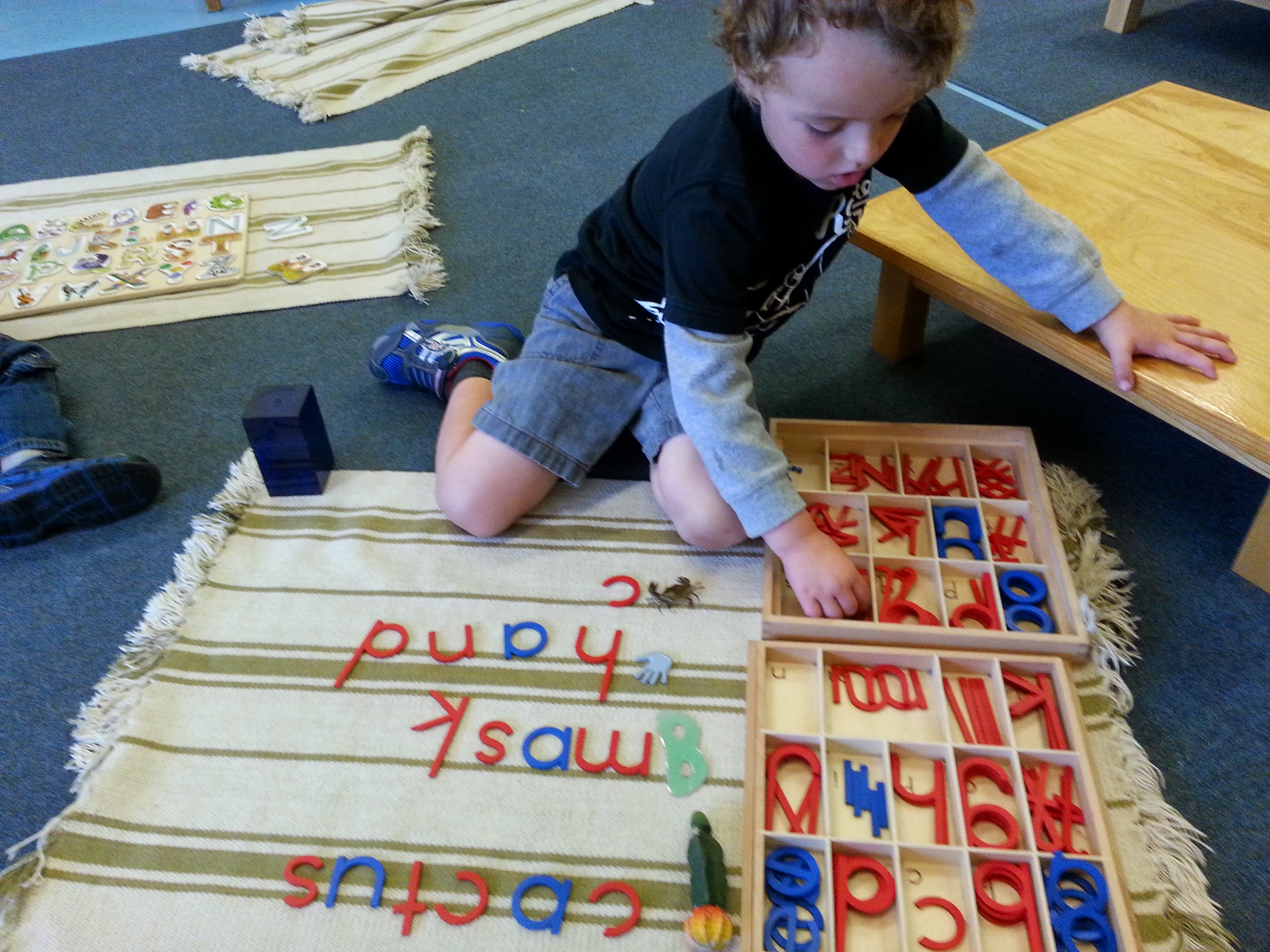 Working with the Moveable Alphabet
