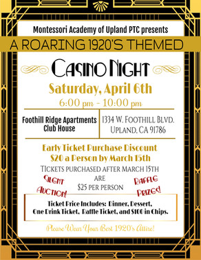 CASINO NIGHT - Roaring 20's Themed