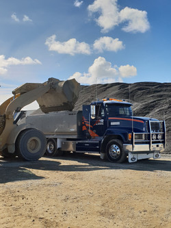 Loading Basecourse at Road Metals