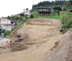 Double house site taking shape