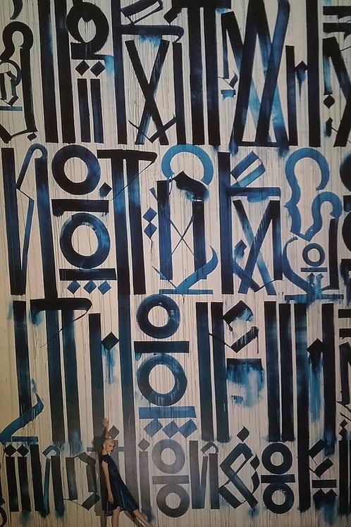 Lena Davidoff, Retna - Blue Wall
