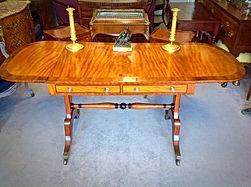 Regency satinwood and ebony sofa table