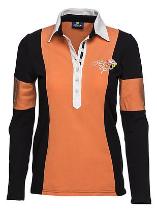 Nicky Long Sleeved Polo Shirt with Embroidery