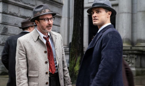 Dr. Allen Hynek (Aiden Gillen) & Captain Quinn (Michael Malarkey)