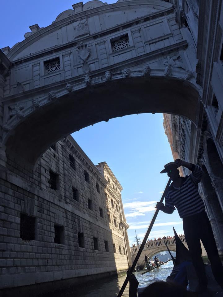 Gondola ride through Venetian canals, 2015