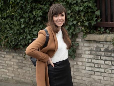 Outfit: Kožená mini černo-bíle | Leather mini black-white