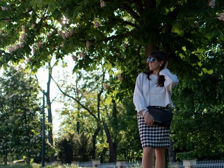 Outfit: Černo-bílá sukně | Black-white skirt