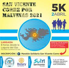 San Vicente corre por Malvinas