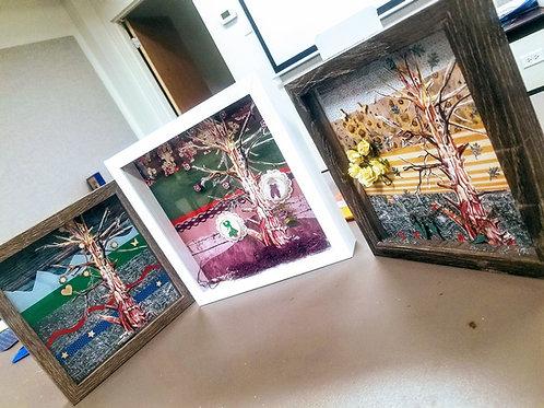 Color Theory Milestone Tree Shadow Box Kit