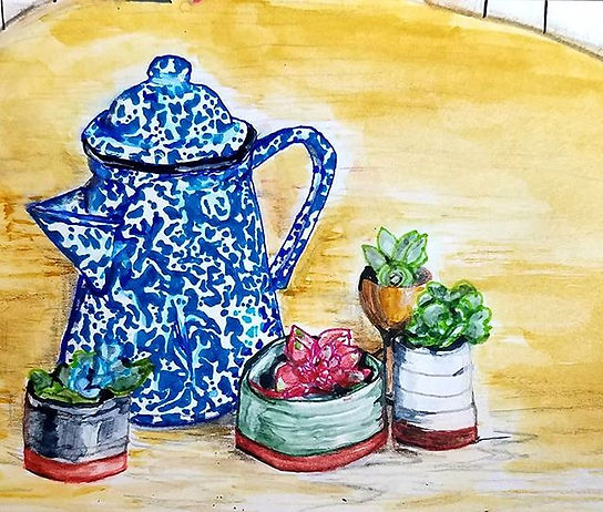 #nofilter #stilllife #watercolorandpen.j