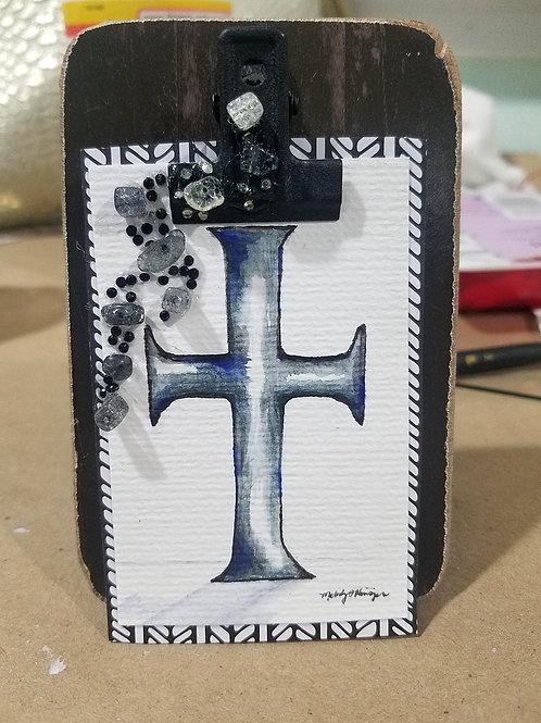 Mini Cross Hearth Ornament